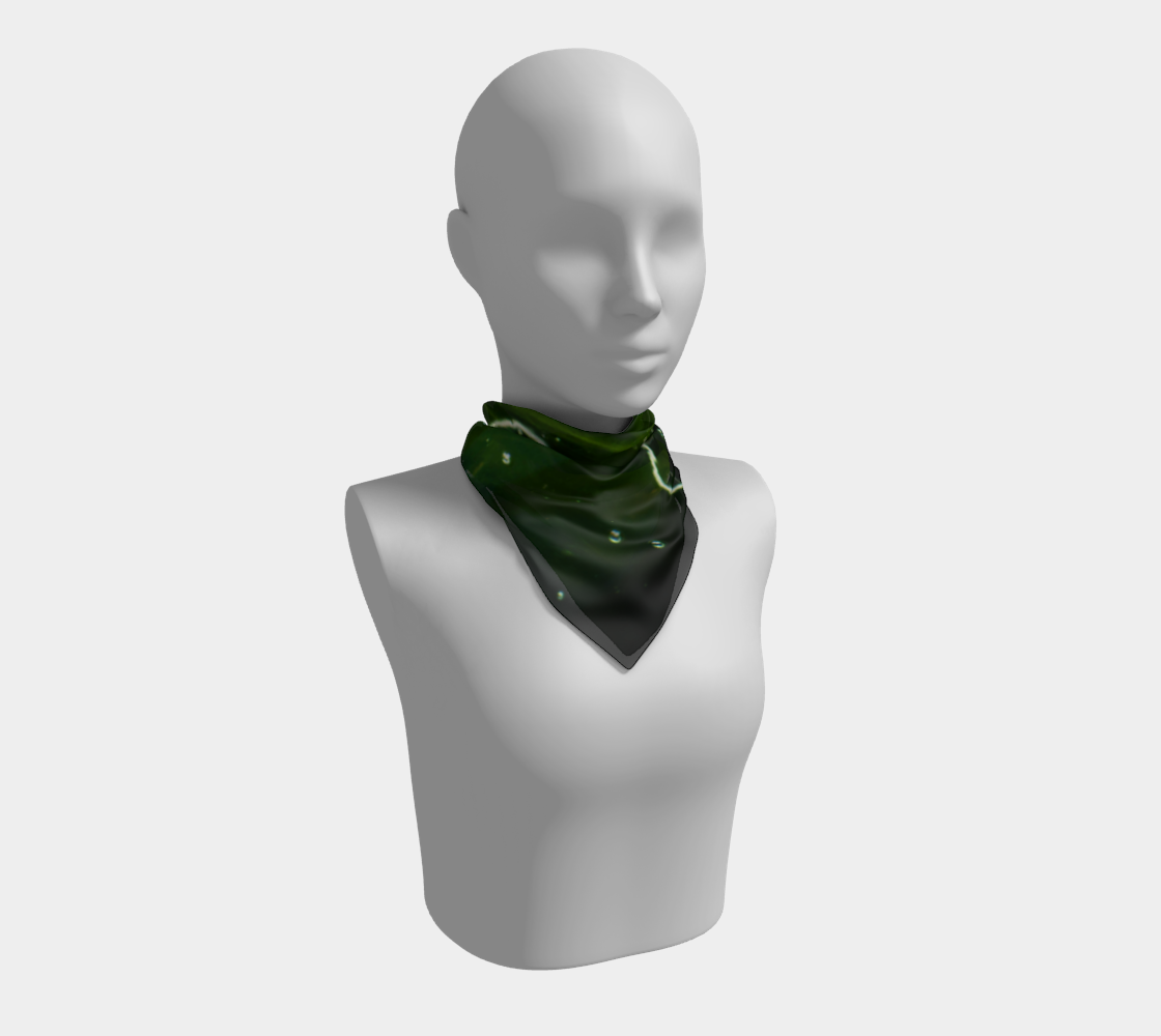 Green Algae and Water Square Scarf preview