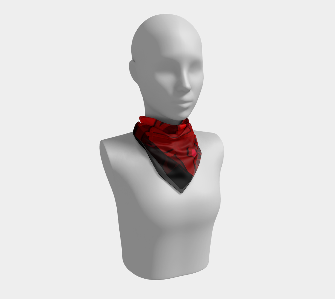 """Redness"" Square Scarf preview"