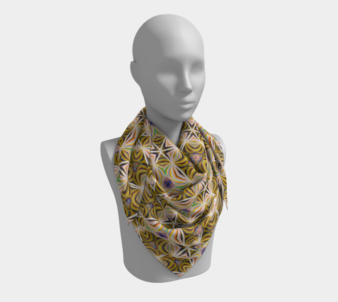 Sunshine Lattice Scarf preview #3