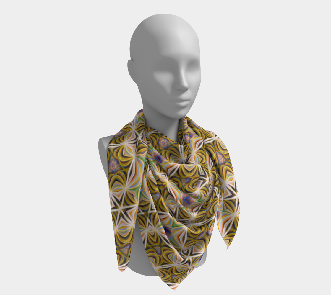 Sunshine Lattice Scarf preview #4