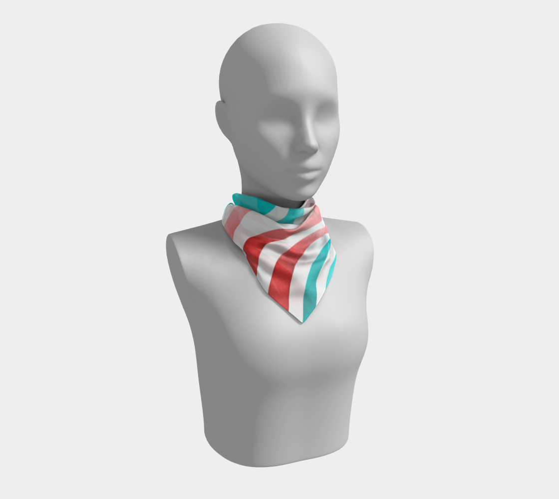 Wavy lines - orange and mint preview