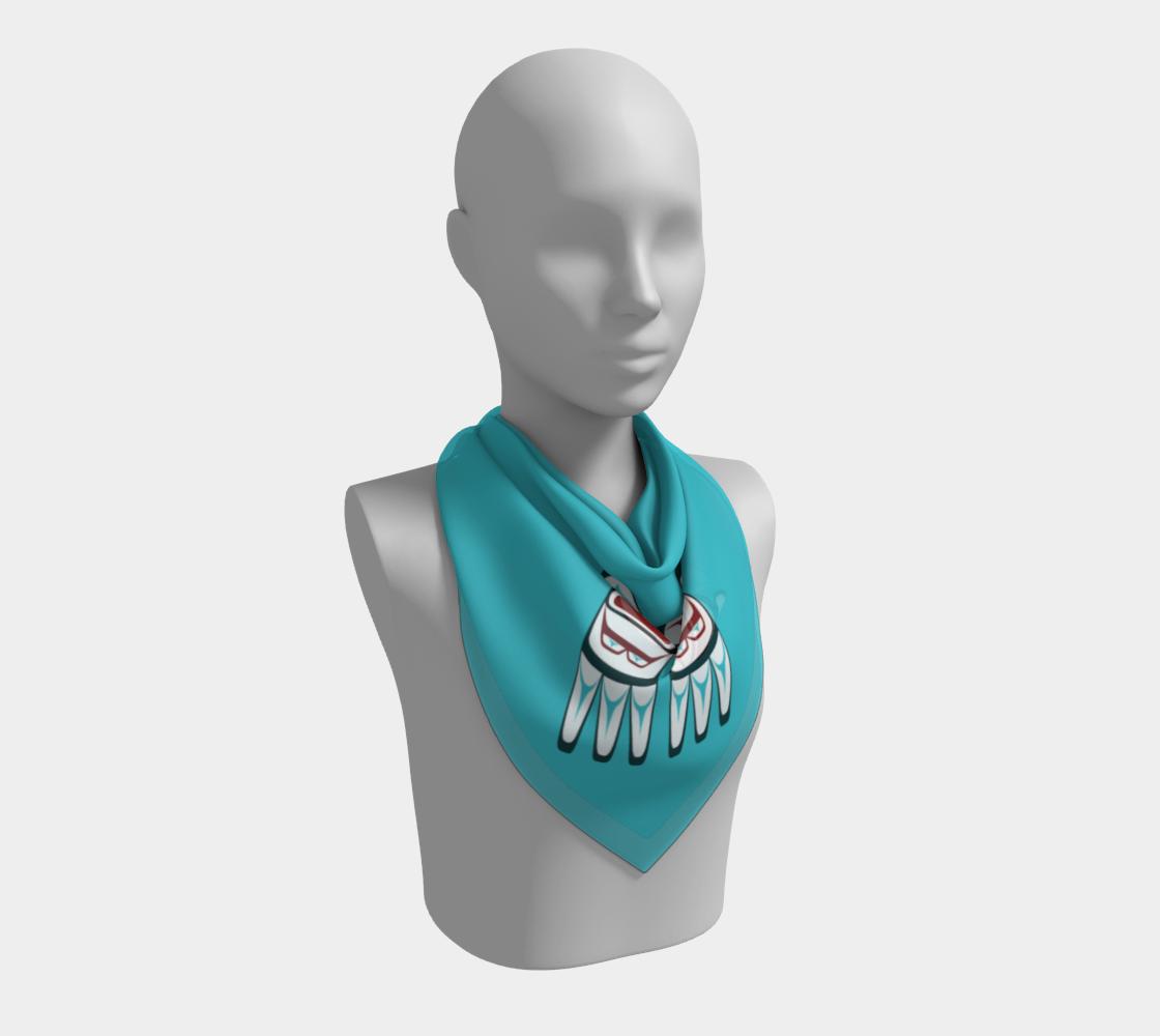 Formline Owl Scarf Pacific Northwest Native American Corner Design preview #2