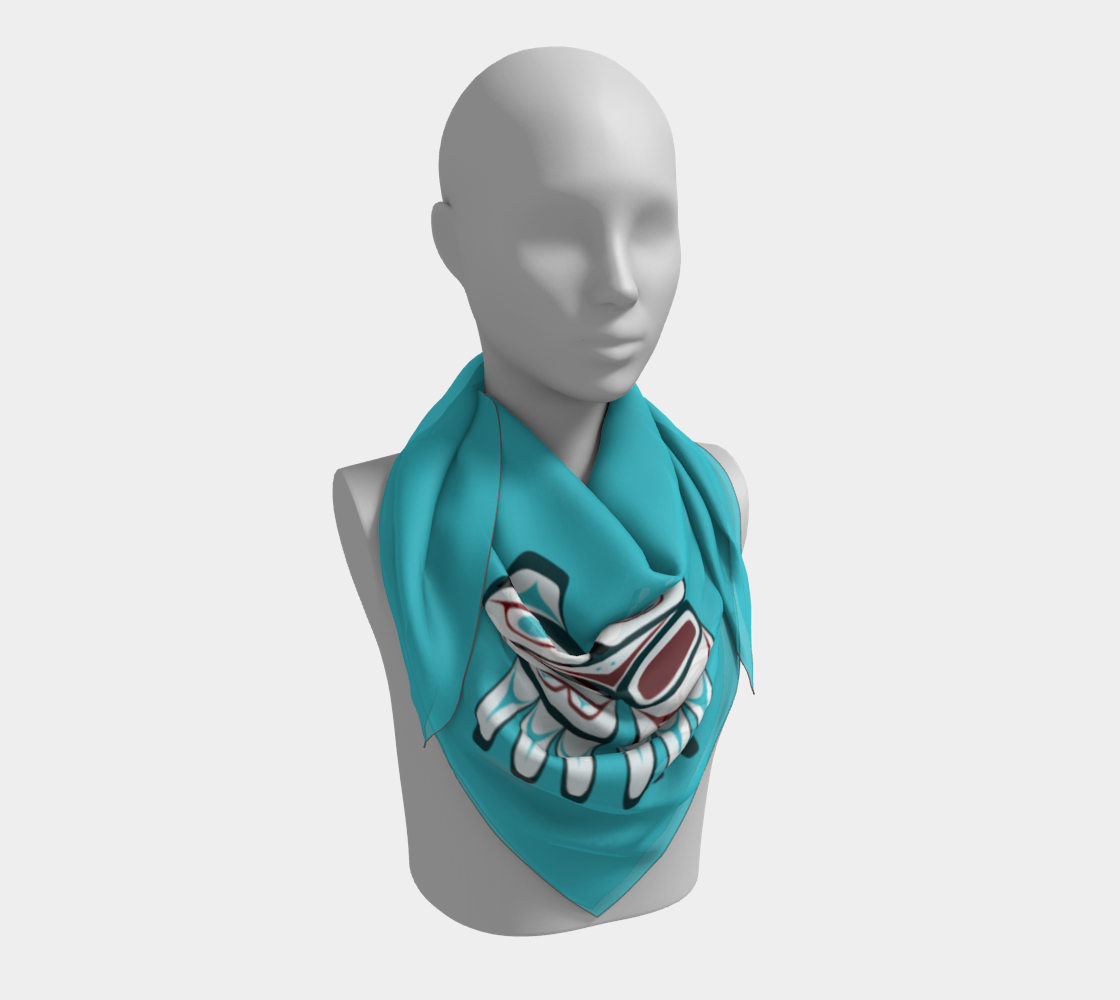 Formline Owl Scarf Pacific Northwest Native American Corner Design thumbnail #4