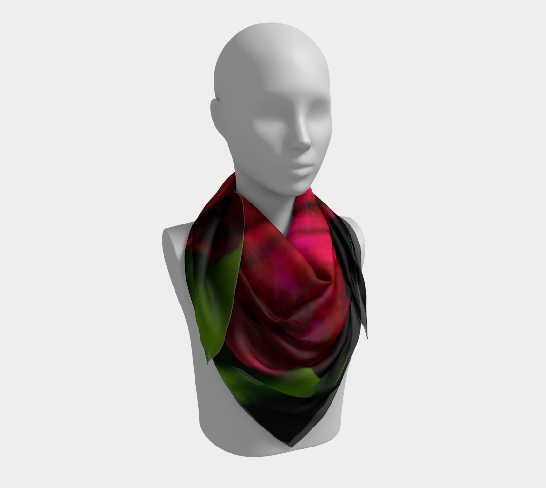 Purple Wild Flower Square Scarf preview #3