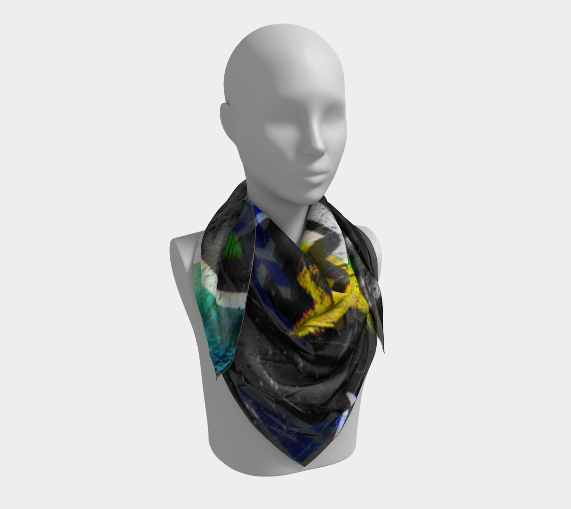 Graffiti 6 Square Scarf 3D preview