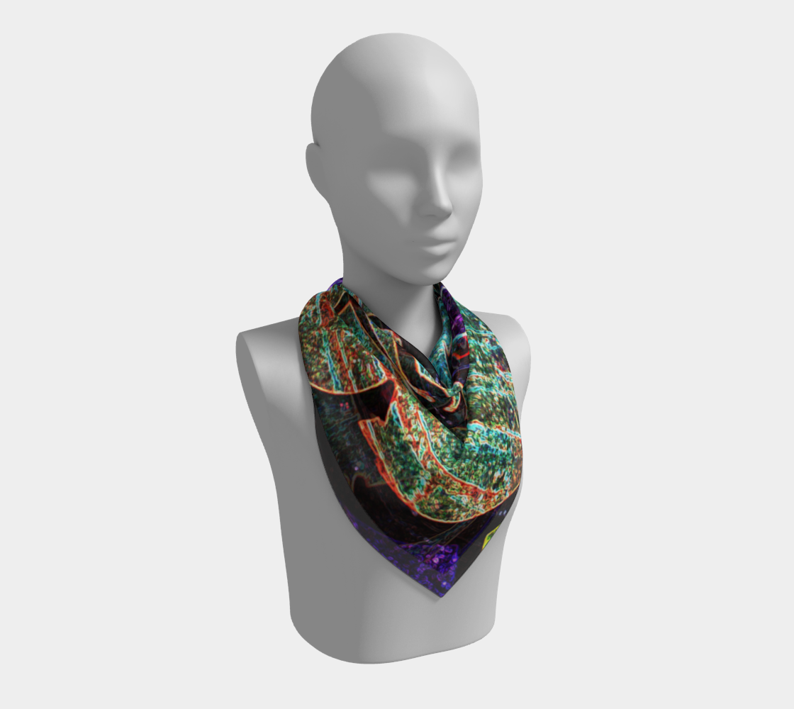 Graffiti 7 Square Scarf preview #2