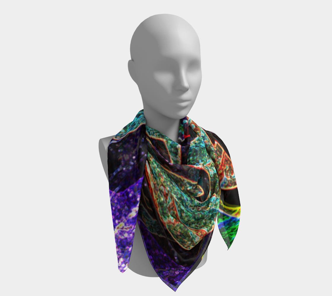 Graffiti 7 Square Scarf preview #4