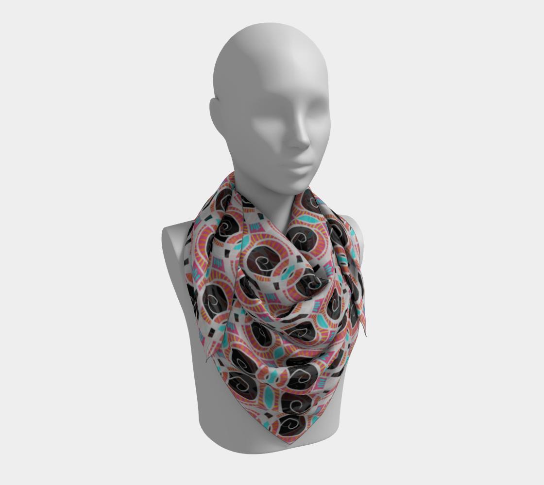 Spiral Pattern Cyan Pink Black & White preview #3