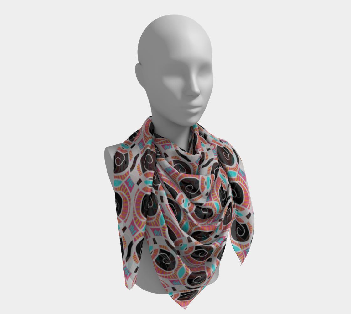 Spiral Pattern Cyan Pink Black & White preview #4