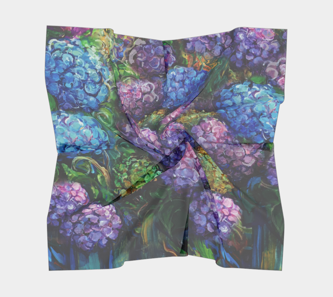 Hydrangeas - Painterly Style, Cool Tones  preview #5