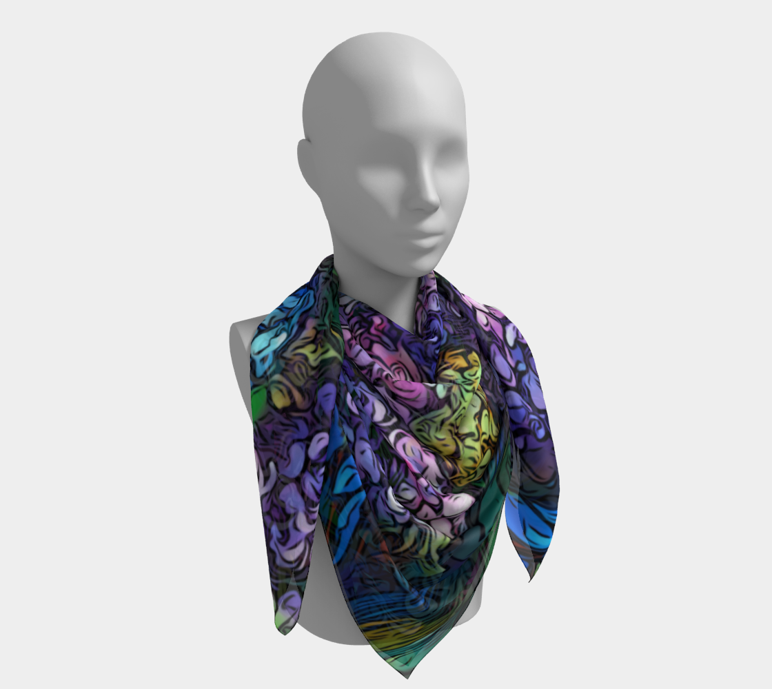 Hydrangeas - Graphic Style, Cool Tones  preview #4