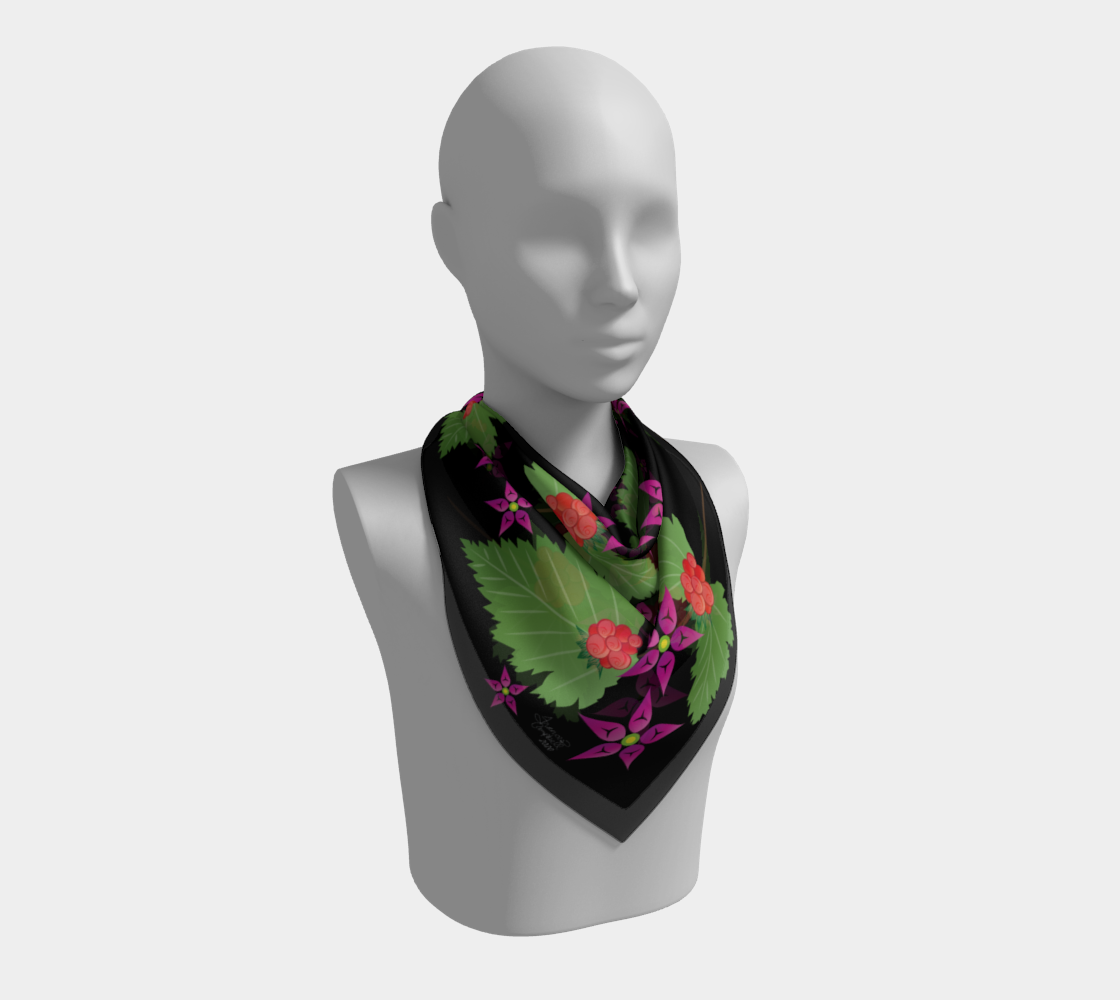 Salmonberry Branch Scarf preview #2