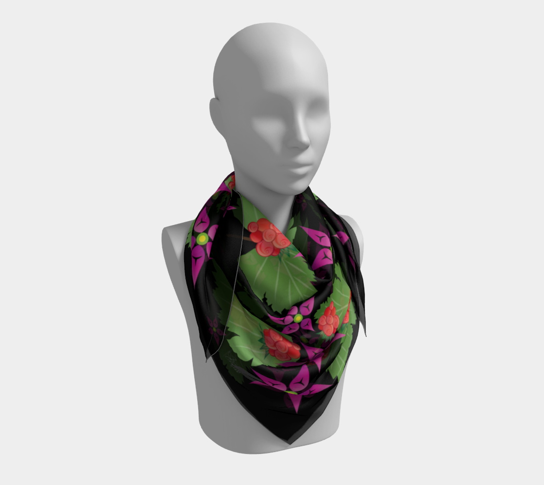 Salmonberry Branch Scarf preview #3