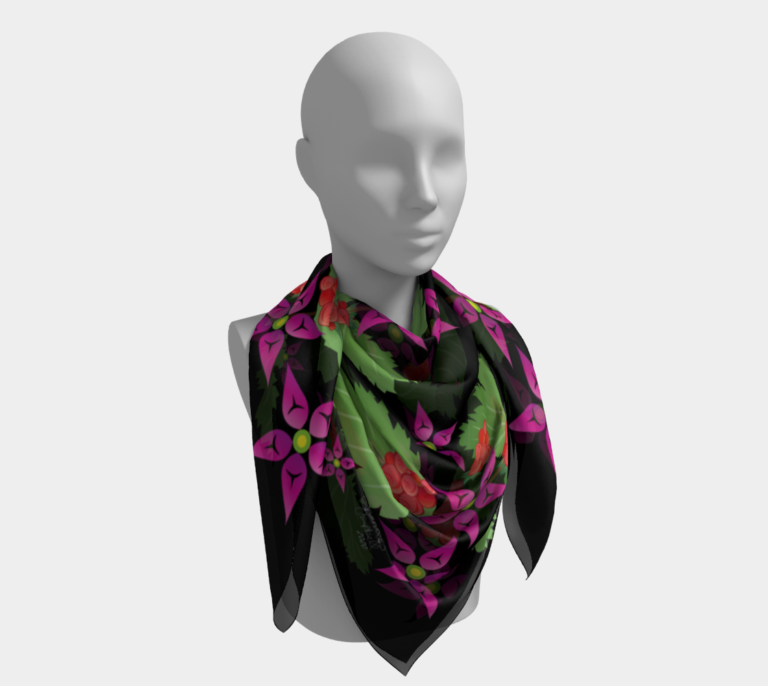 Salmonberry Branch Scarf preview #4