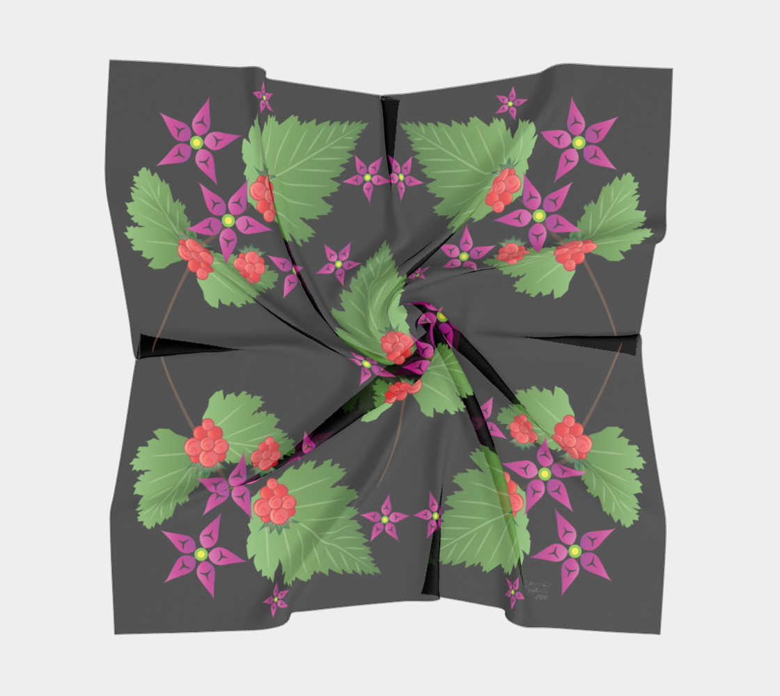 Salmonberry Branch Scarf preview #5