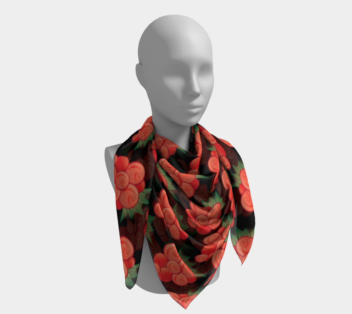 Salmonberry Square Scarf preview #4