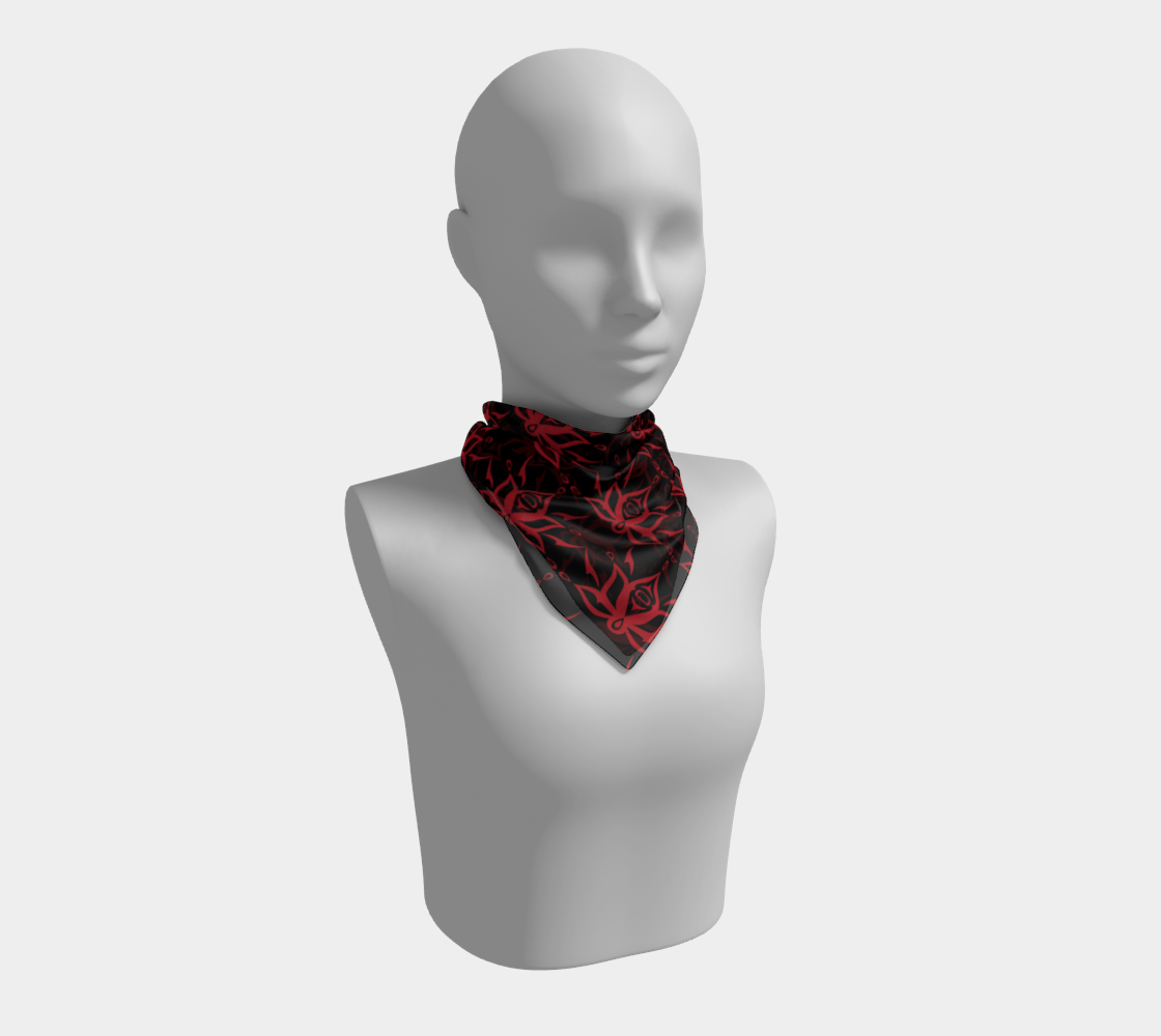 Black and Red Lotus Scarf preview