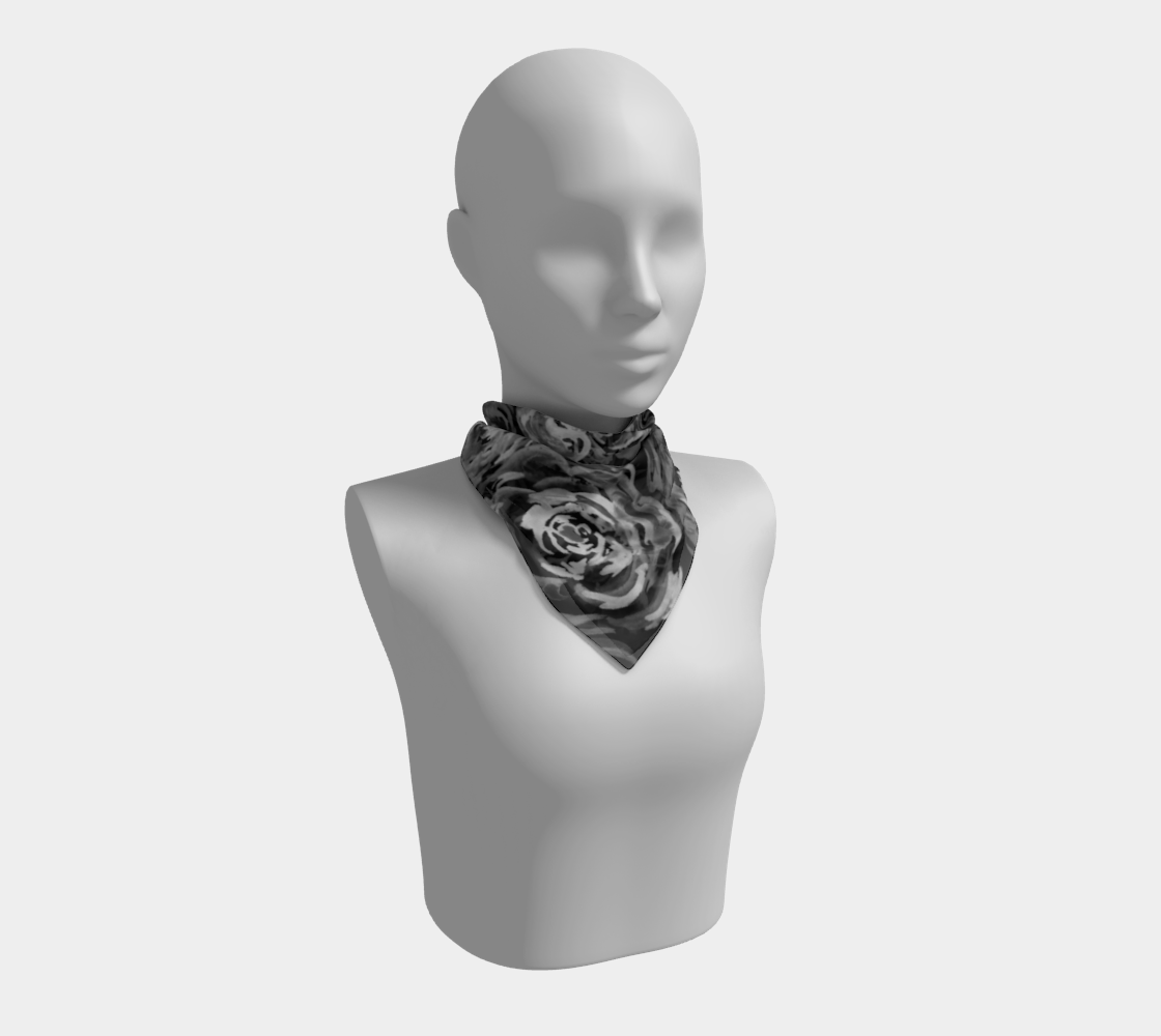 Monochrome Roses Pattern Square Scarf preview