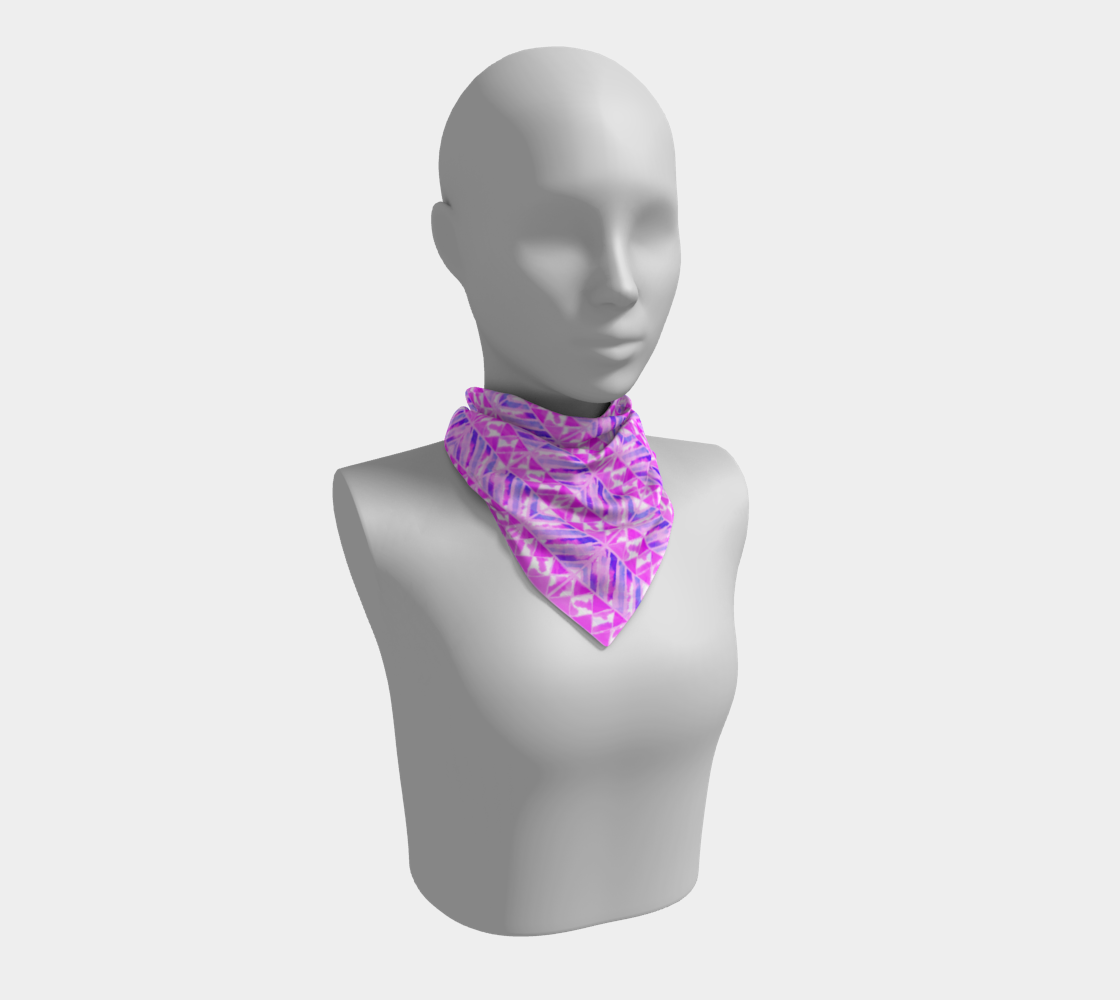 Pink and Purple Diamonds Pattern Square Scarf preview