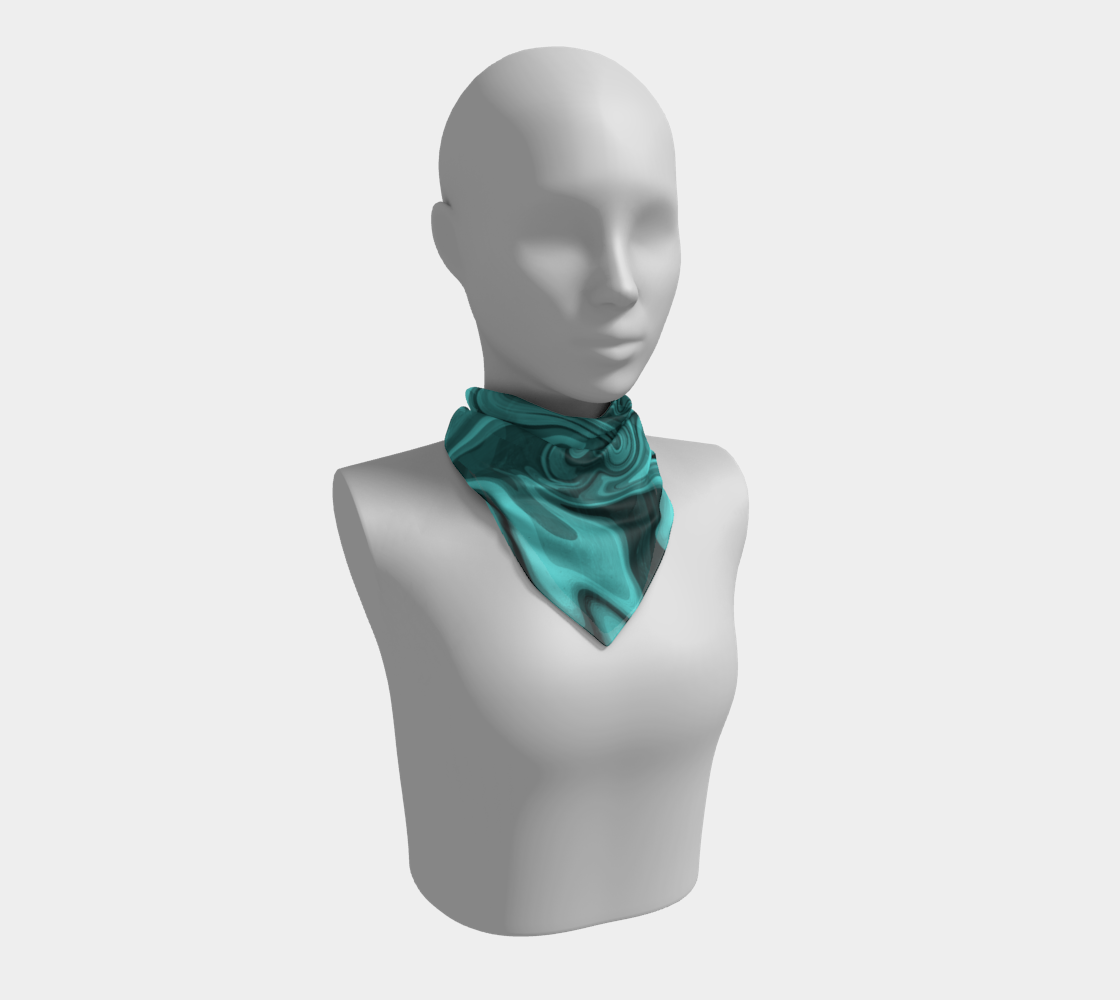 Teal Twirl Square Scarf preview
