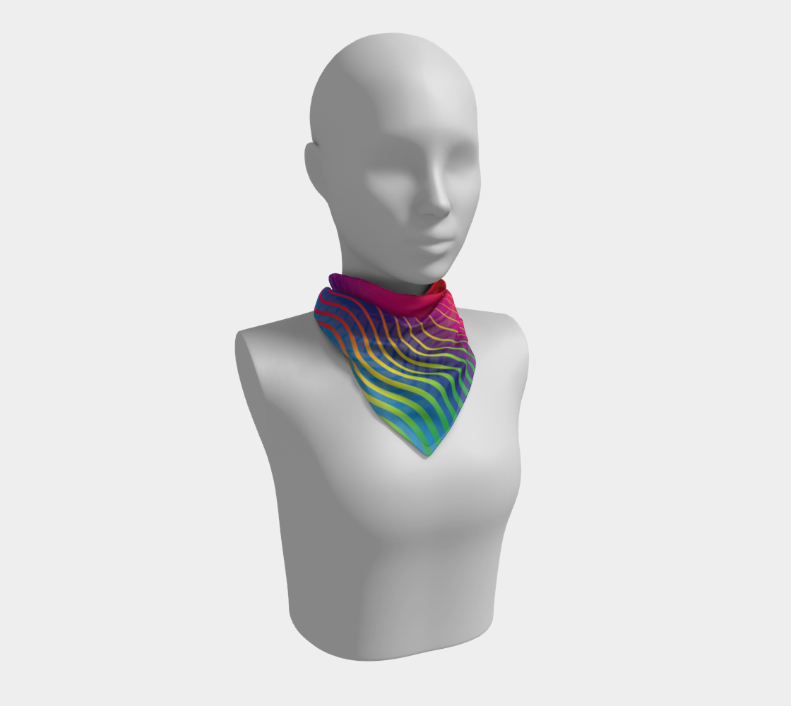 Rippled Rainbow Waves Square Scarf preview