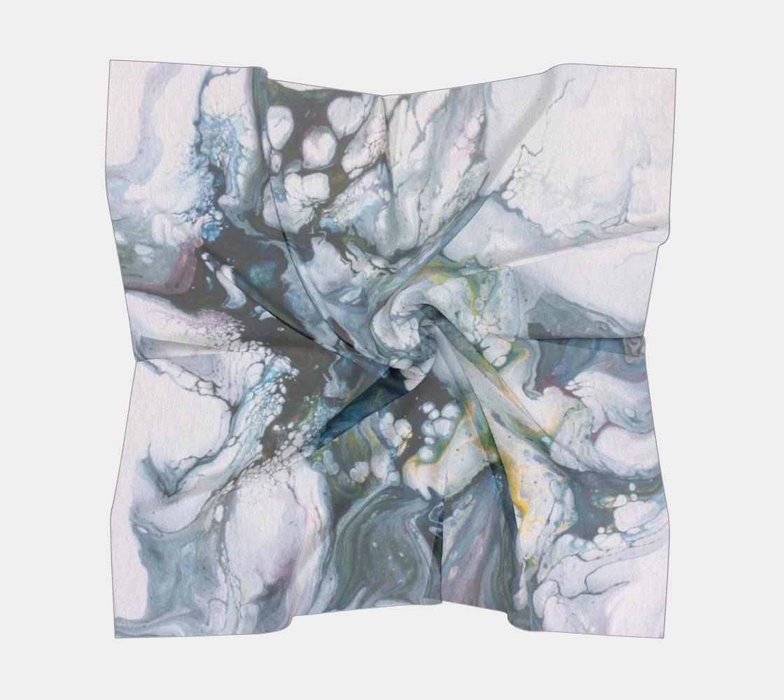 Aperçu de Le lys des glaces - Foulard carré #5
