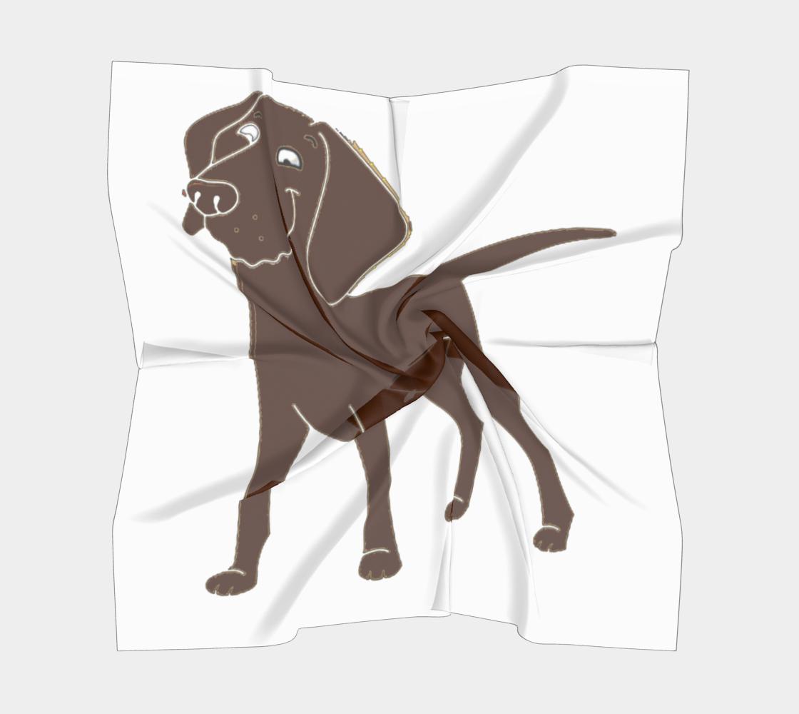 Labrador Retriever chocolate cartoon square scarf preview #5