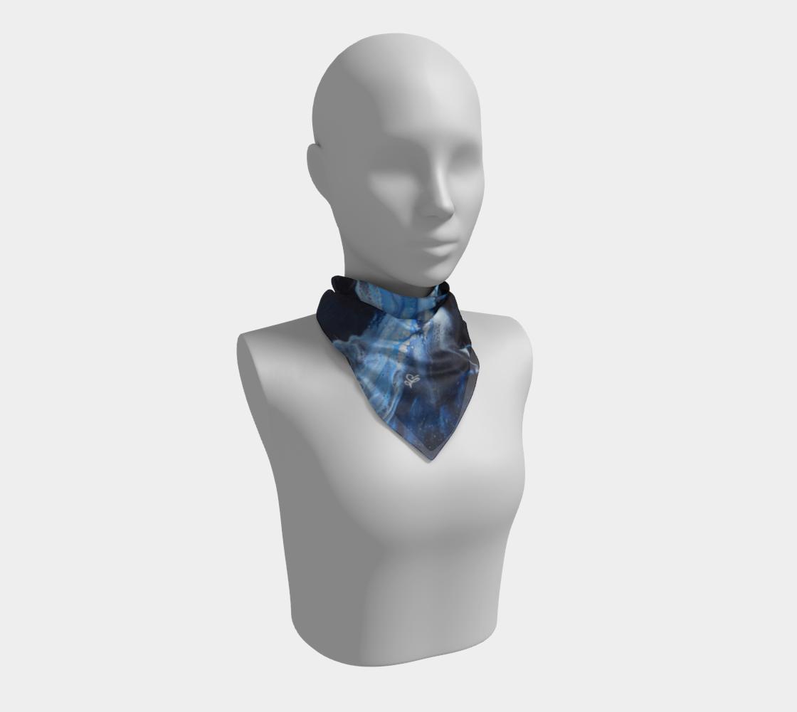 Aperçu de Flambée bleue - Foulard carré