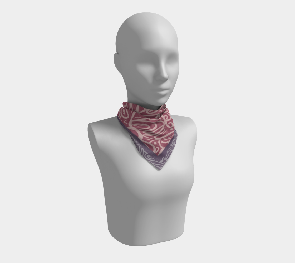 Soft Summer Rose Grape Scarf preview