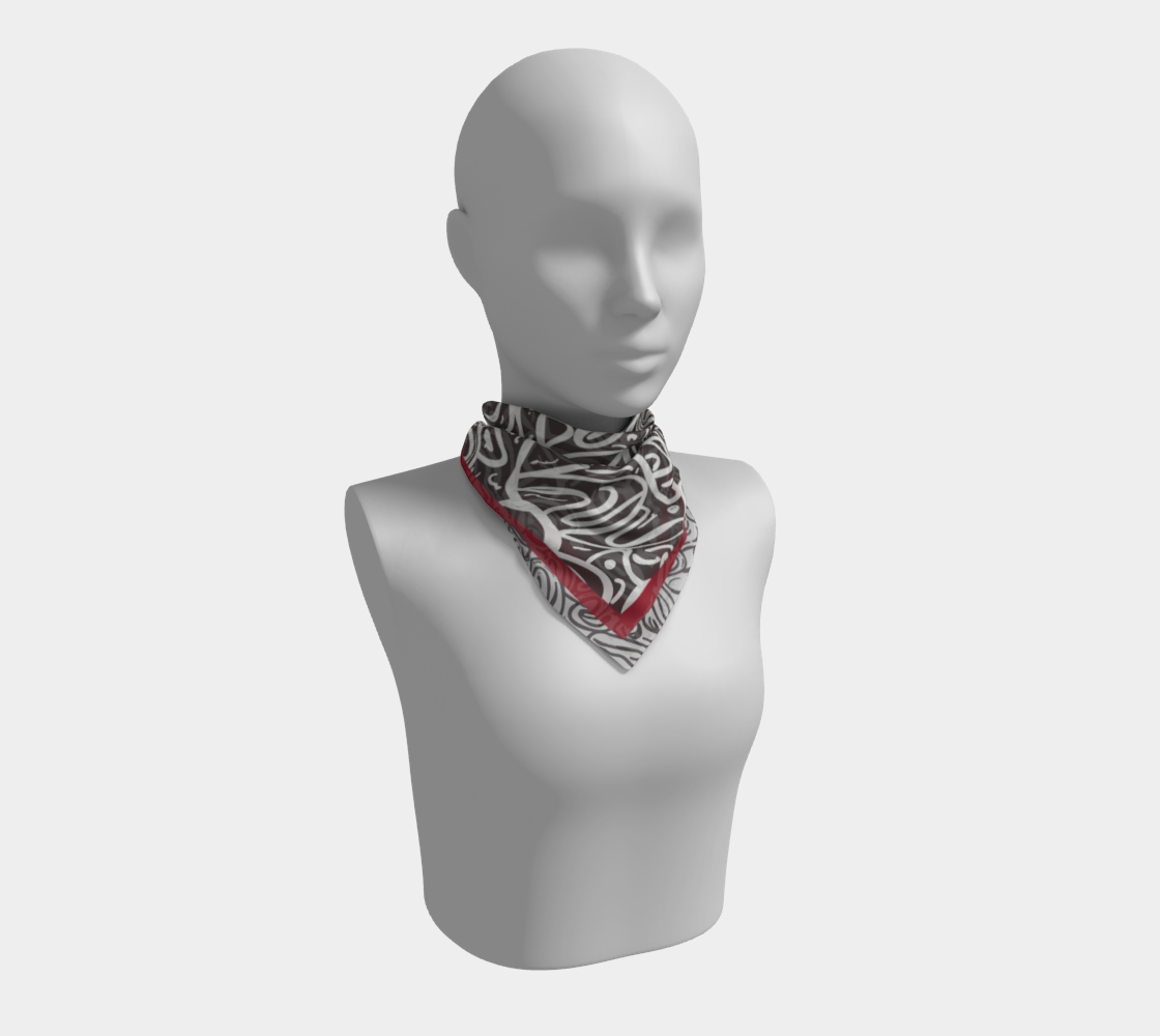 Vaporous Scarlet Shale Scarf preview