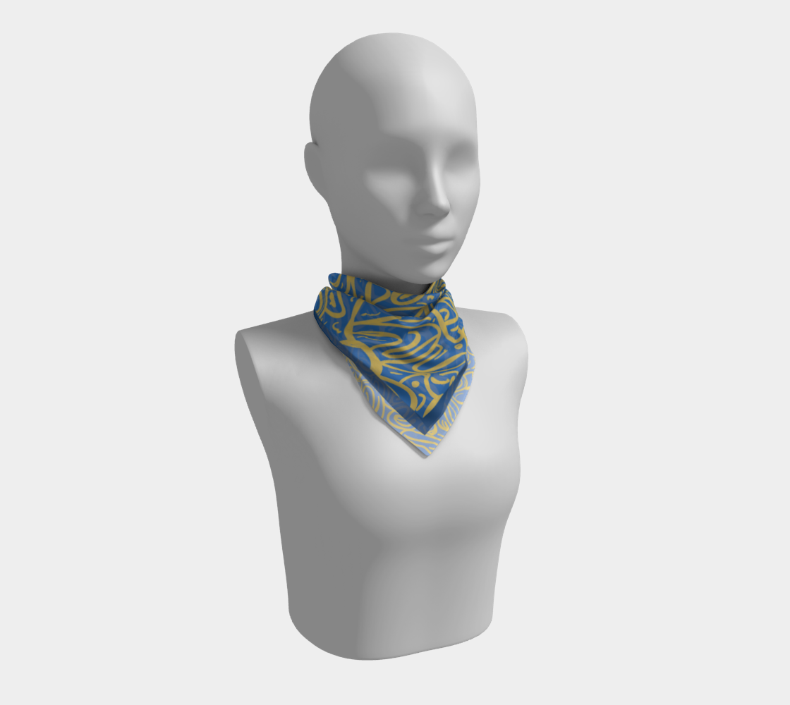 Blue Gold Scarf preview