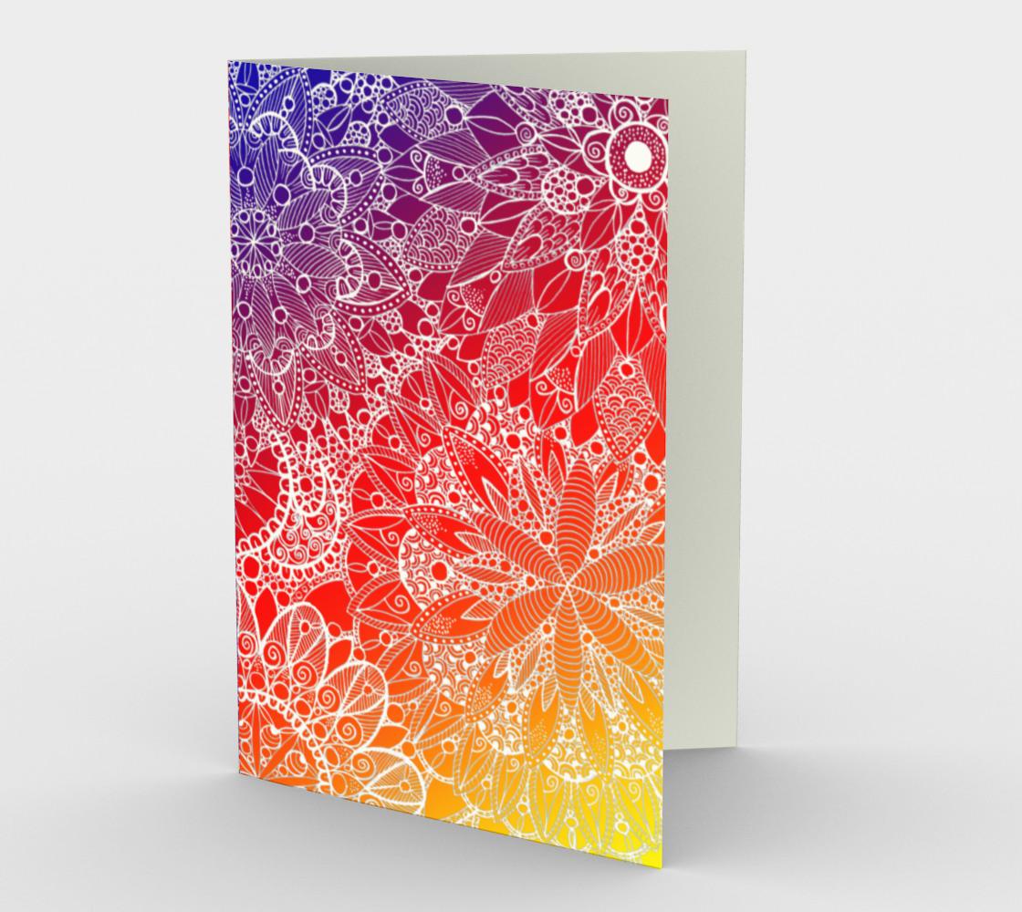 Rainbow Mandala Pattern Stationery Card preview