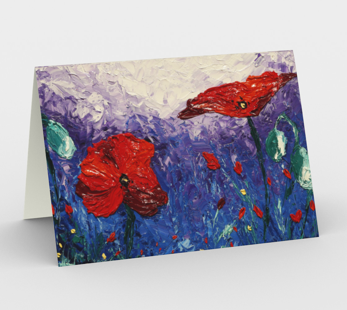 Water Poppies Notecard preview