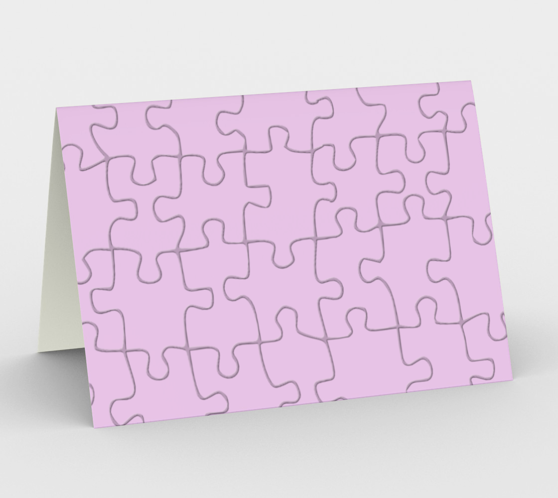 Mauve Color Puzzle Image on Greeting Card preview