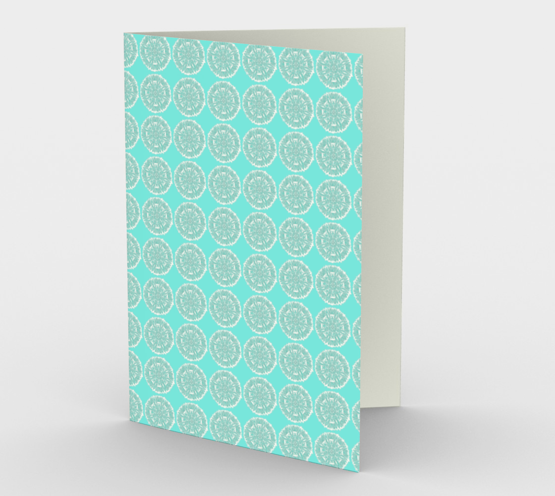 Blue and White Mandala Circles Stationery Card preview