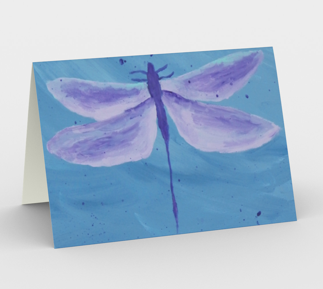 Purple Dragonfly Card preview #1