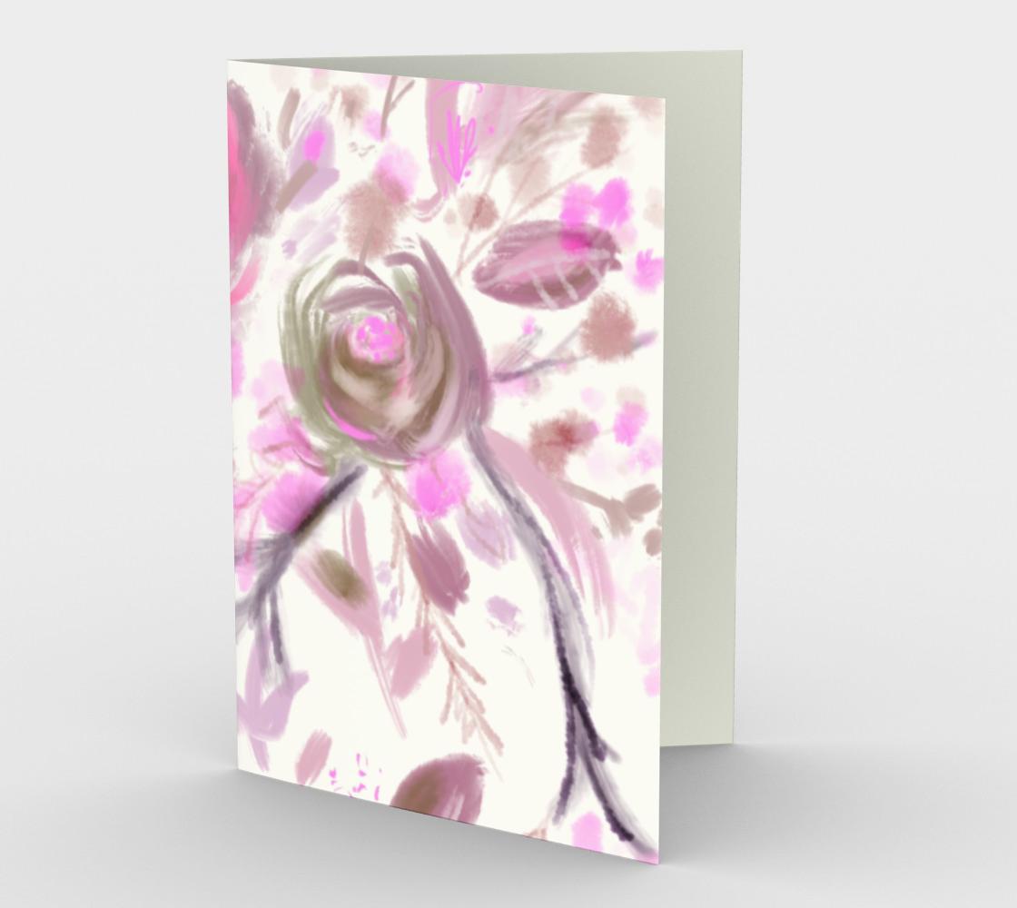 carte Roses printanières rose preview