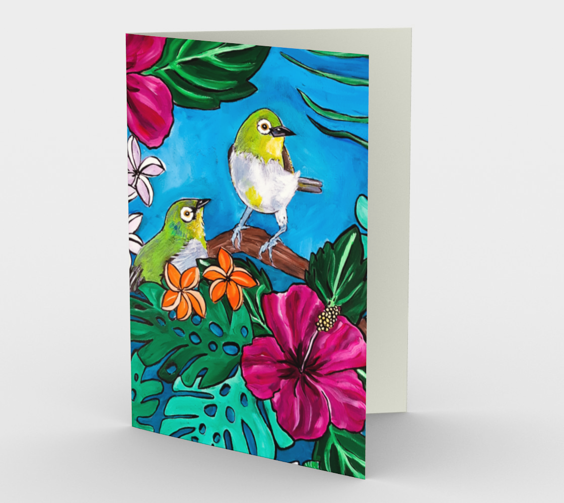 Tropical Tweets Card preview