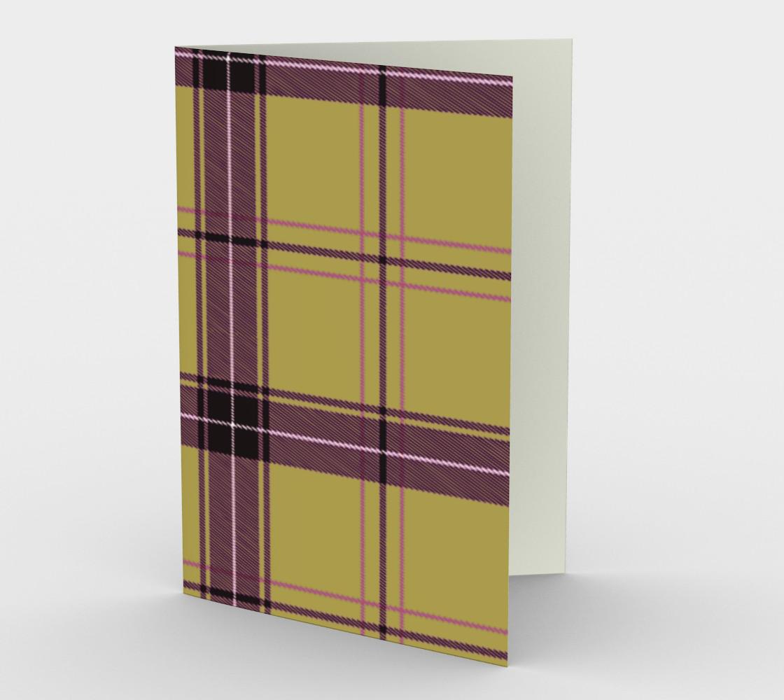 beige purple plaid aperçu