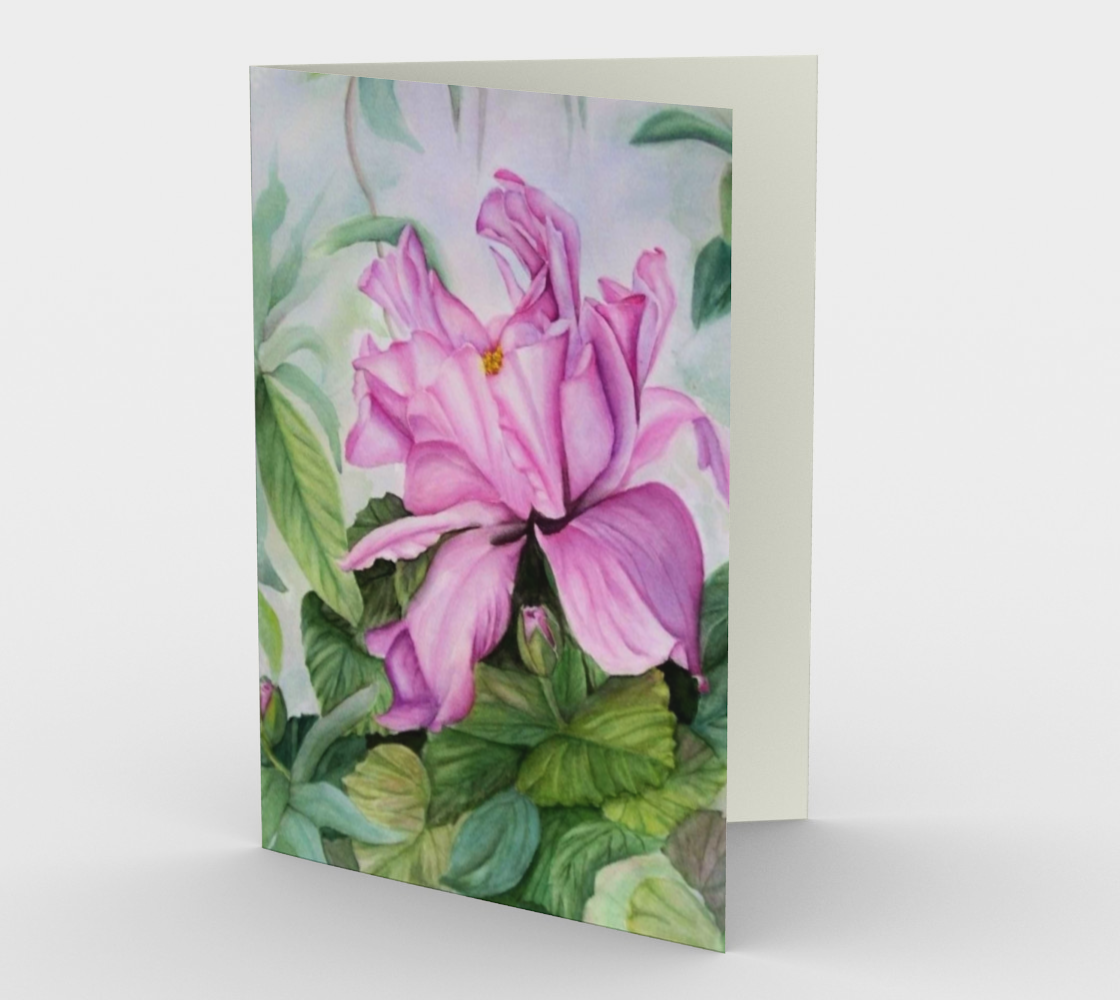 Pink Tropical Orchid Greeting Card preview