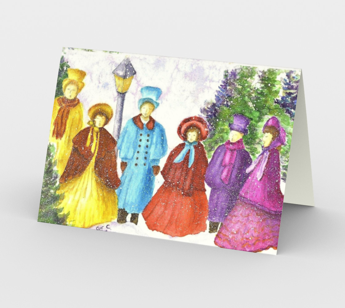 CHRISTMAS CAROLERS Holiday CARD Miniature #3