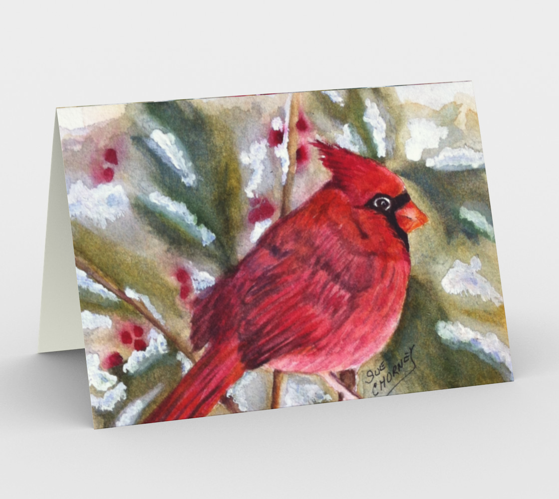 CHRISTMAS CARDINAL Holiday CARD preview
