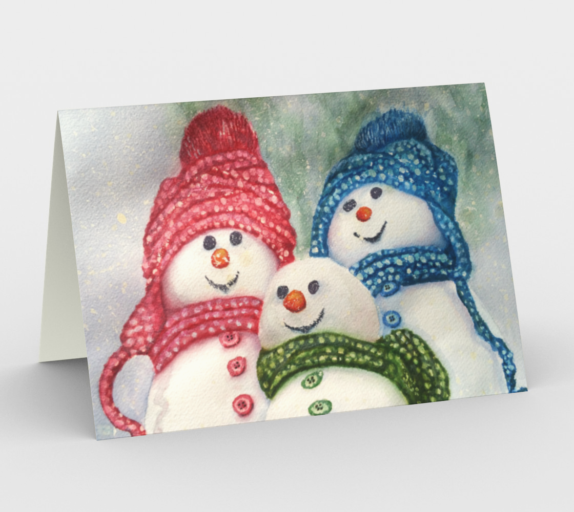 CHRISTMAS SNOW FAMILY Holiday Cards preview
