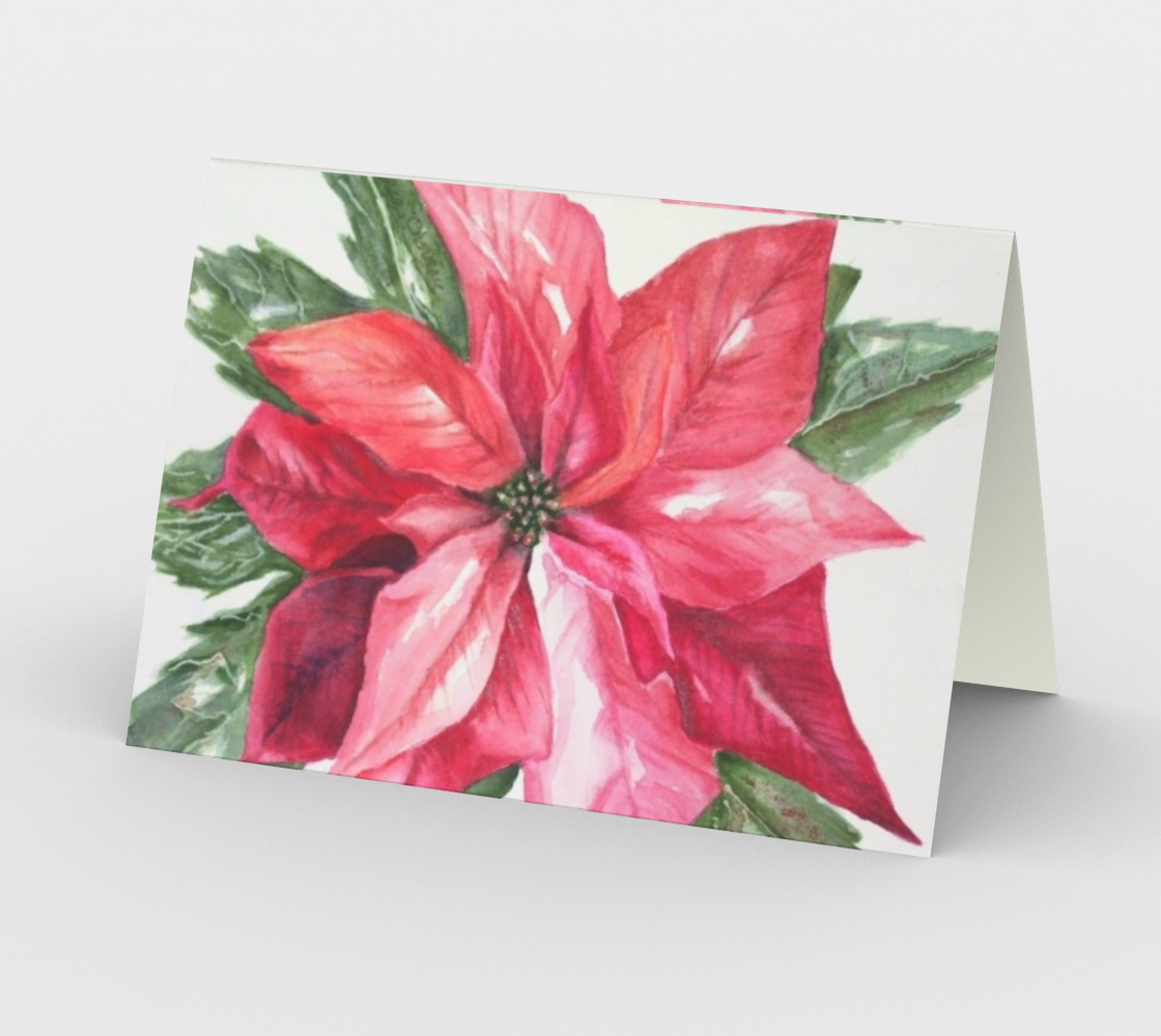 CHRISTMAS POINSETTIA Holiday CARDS preview #2