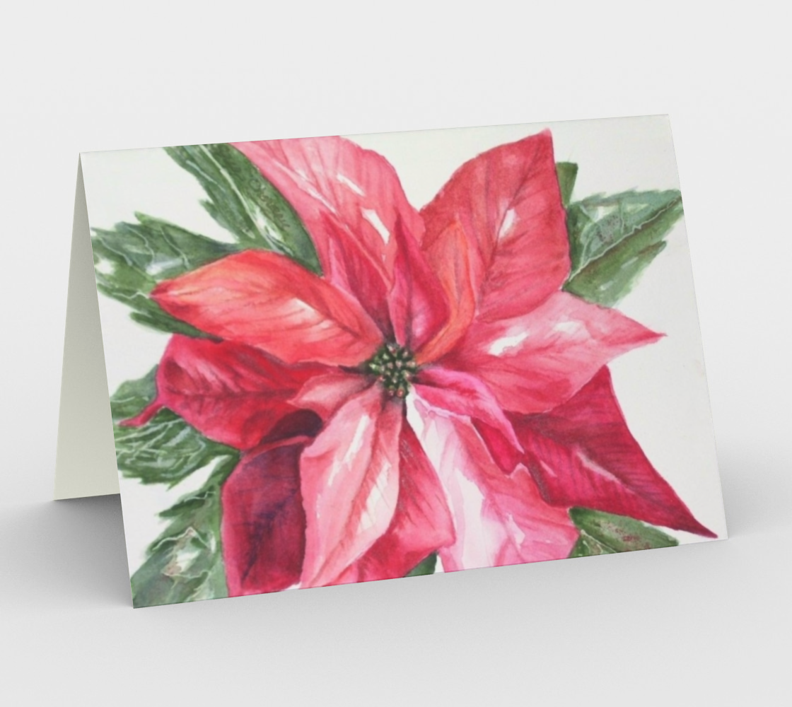 CHRISTMAS POINSETTIA Holiday CARDS preview