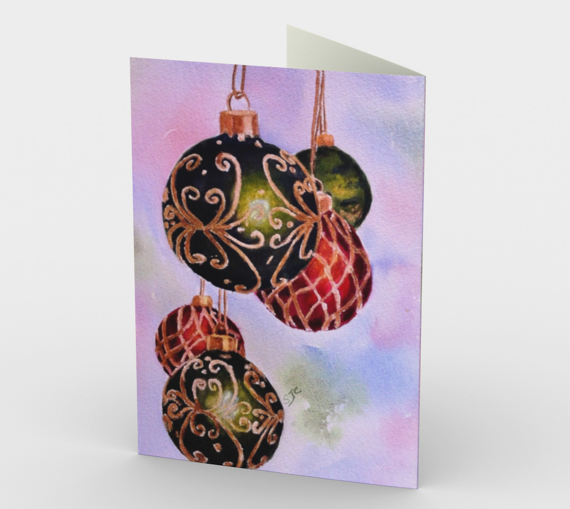 CHRISTMAS ORNAMENTS Holiday CARDS preview #2