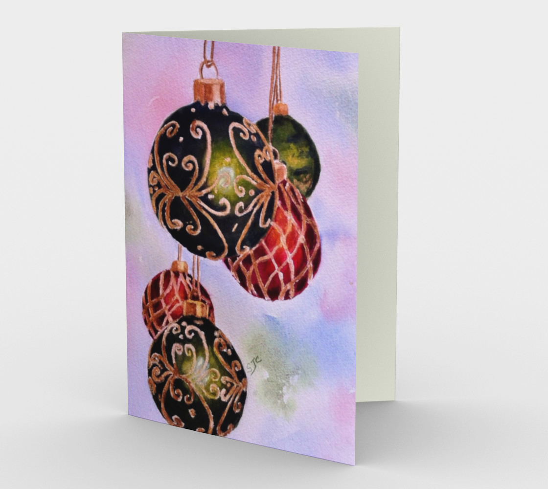 CHRISTMAS ORNAMENTS Holiday CARDS preview