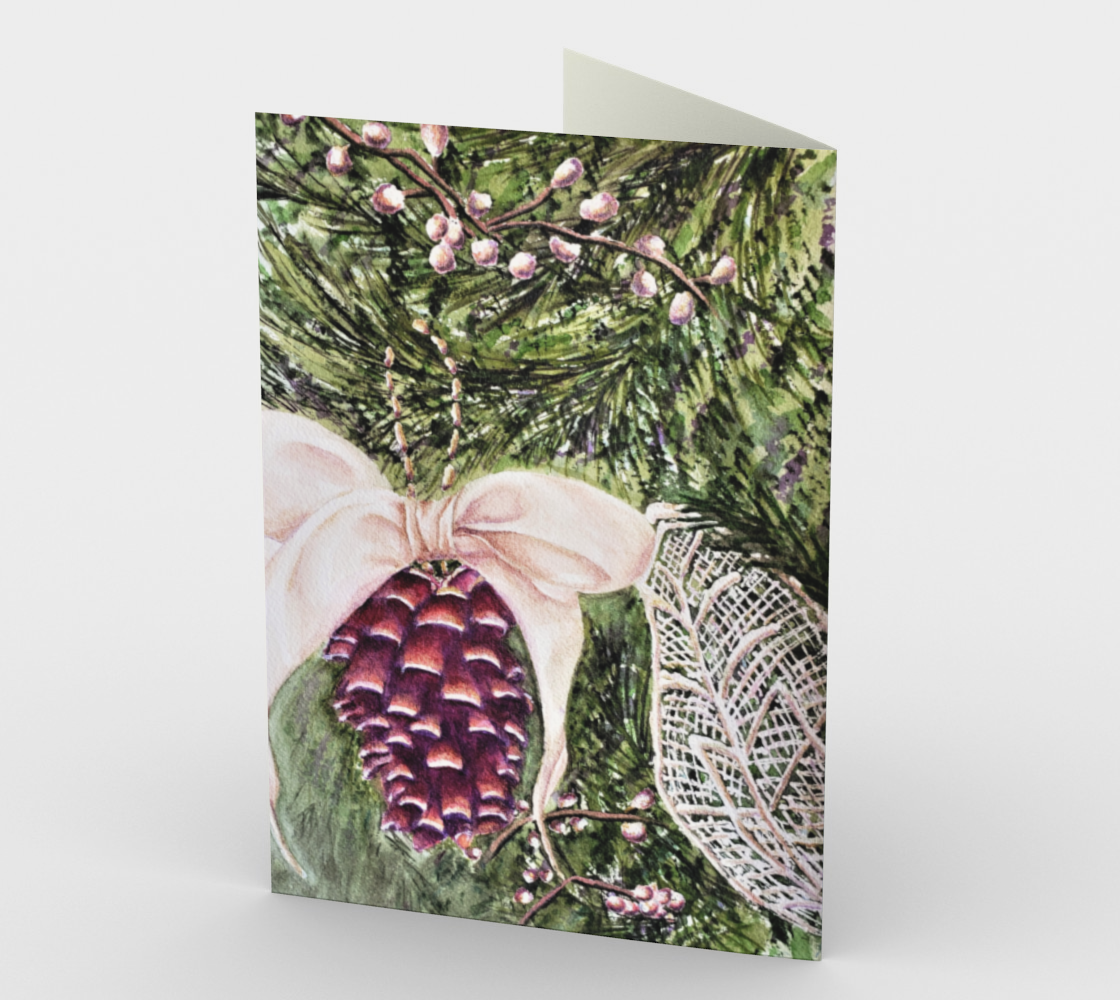 CHRISTMAS PINE CONE Holiday Cards preview #2