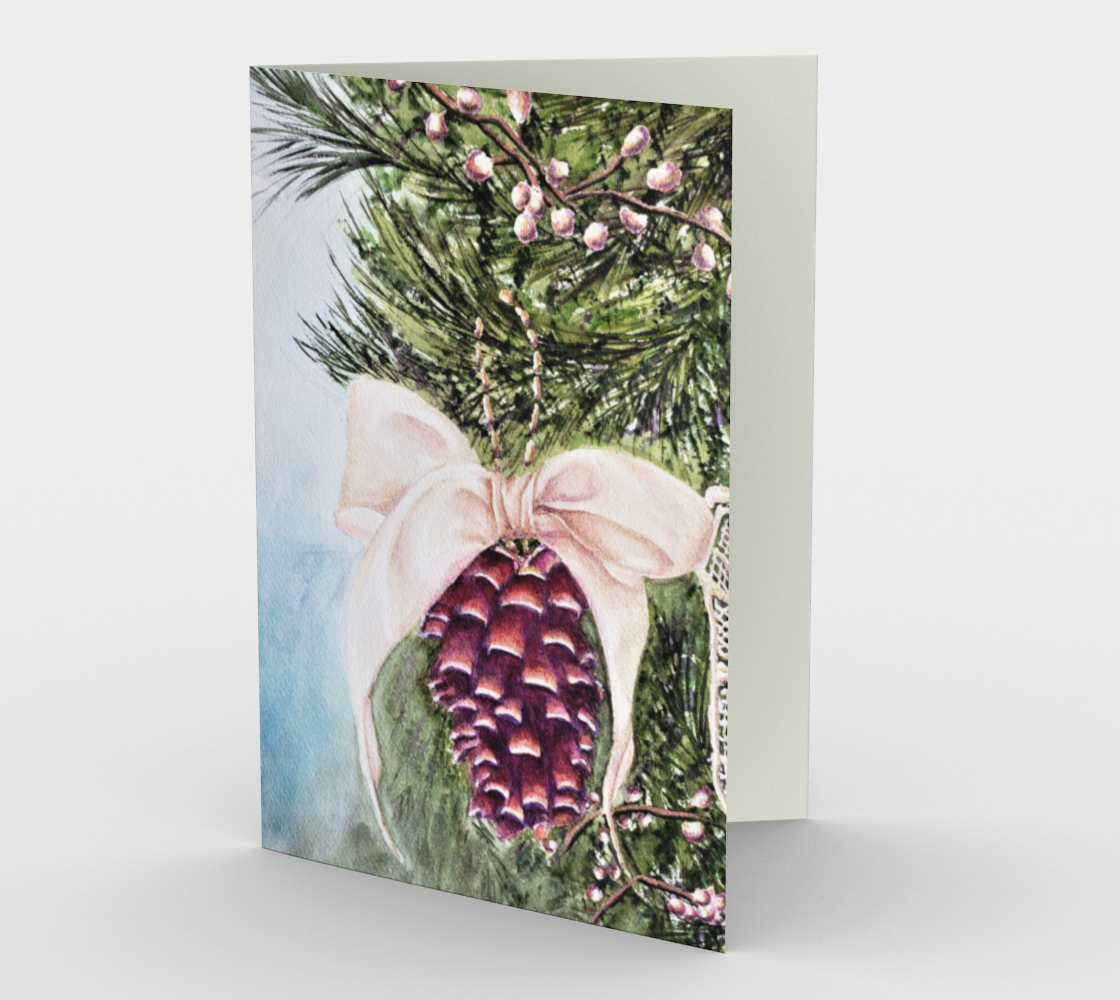 CHRISTMAS PINE CONE Holiday Cards preview