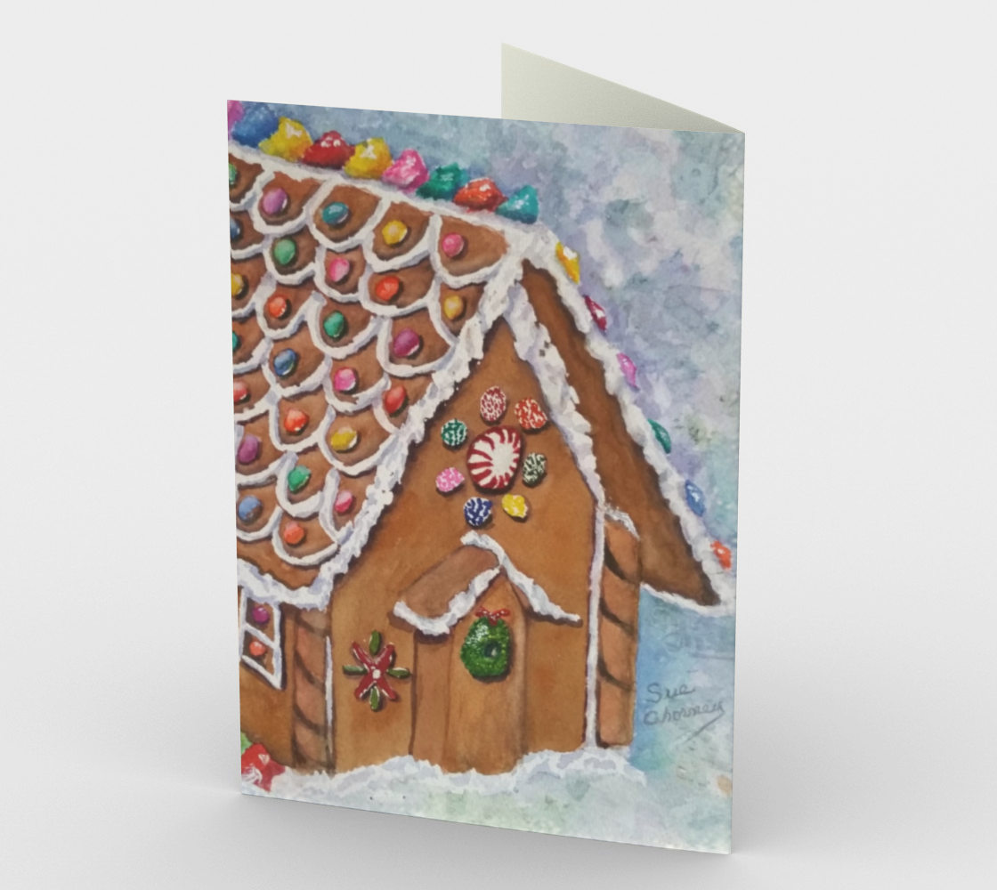 CHRISTMAS GINGERBREAD HOUSE Holiday Cards preview #2